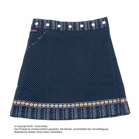 Nijens reversible skirt polka dot midnight blue