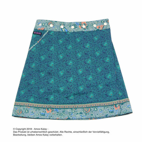 Nijens wrap skirt fir green cotton skirt