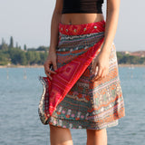 Summer skirt NijensRocksana Midi - red decoration 17
