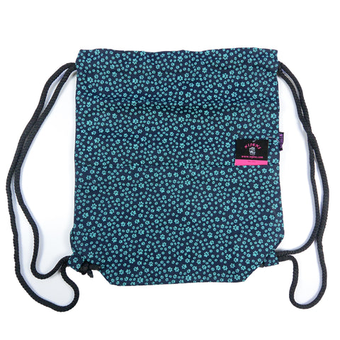 Backpack Nijens Bag Paws Teal Bag Canvas