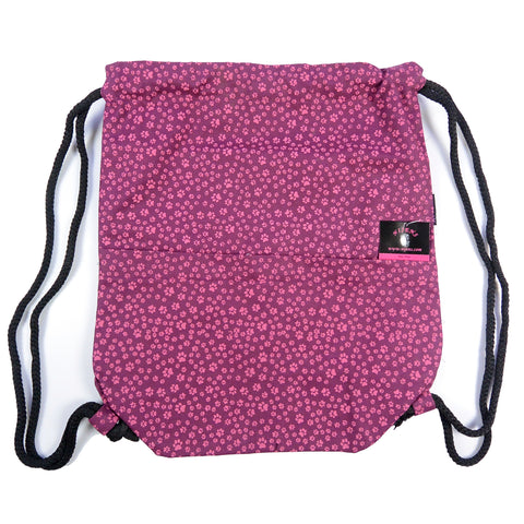 Backpack Nijens Peethoo Bag Pfoten-53 Magenta pouch made of canvas