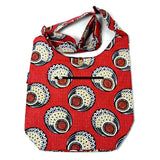 Offer cotton bag everyday shopping shopper bag peacock red picture