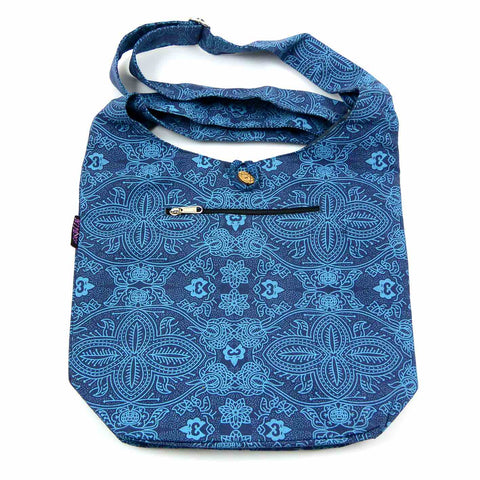 Schultertasche Canvas Small Shopper Blau-OM