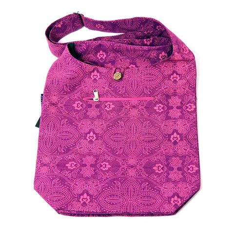Schultertasche Small Shopper Canvas Magenta