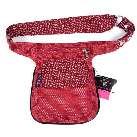 Reversible fanny pack Waist pack red wine red photo
