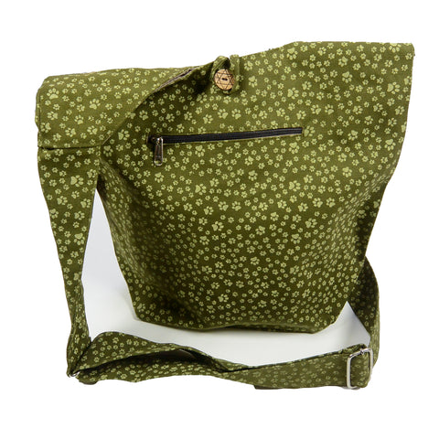 Nijens shoulder bag small shopper paws olive-46