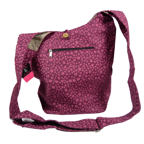 Tasche Favorit Pfoten Druck Magenta Paw Canvas Bag Shopper Photo