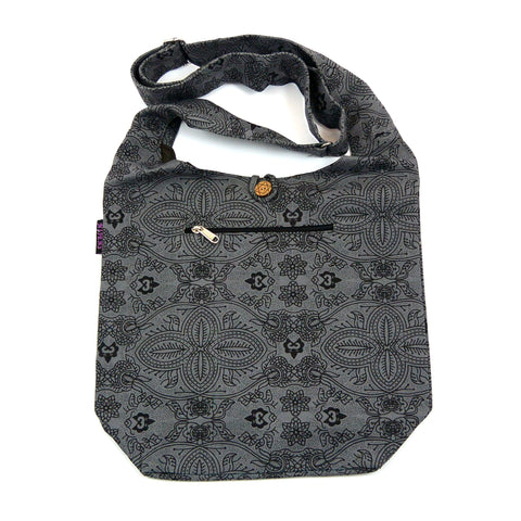 Schultertasche Small Shopper Canvas Grau-7