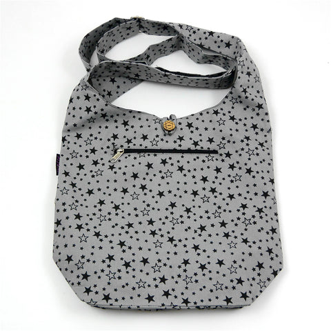 Schultertasche Canvas Small Shopper Stars-29