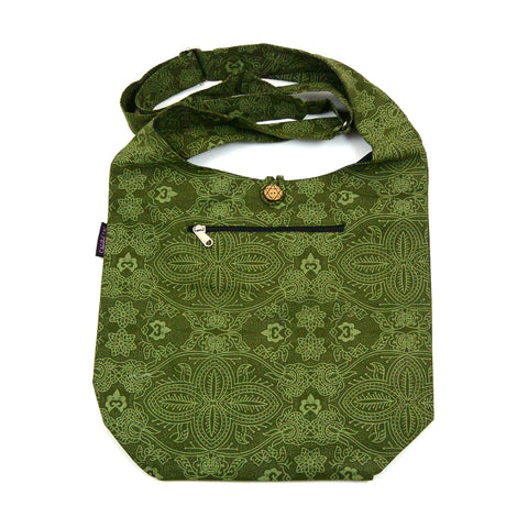 Schultertasche Small Shopper Canvas Khaki-01