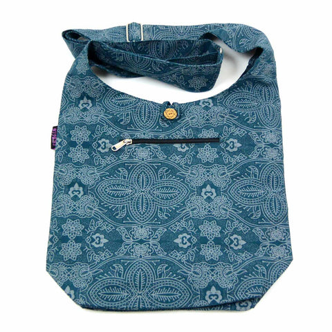 Nijens shoulder bag Small Shopper Canvas Petrol Om