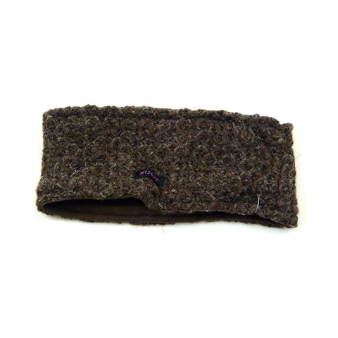 Headband Nijens made of wool new wool Kältechutz warm winter accessories soft knit melange outfits dark brown photo