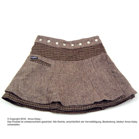 NijensSoufflé Tweed Short-02 Wickelrock