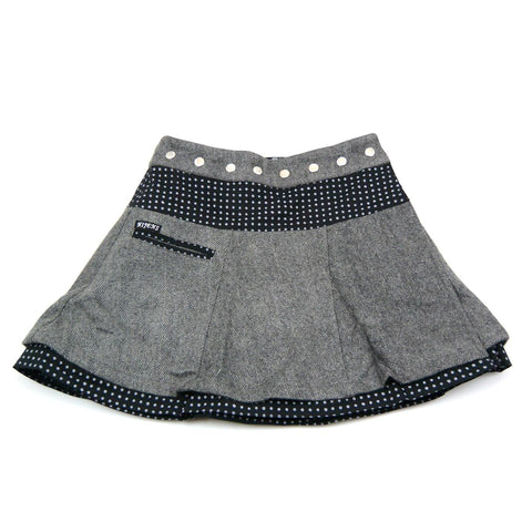 NijensSoufflé Tweed Short-06 NEW Wickelrock grau