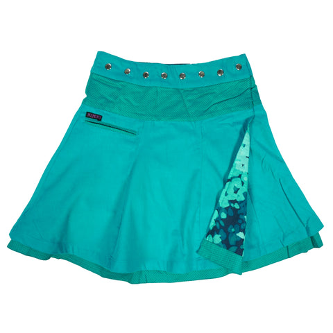 swinging wrap skirt, winter skirt Corduroy turquoise corduroy / cotton