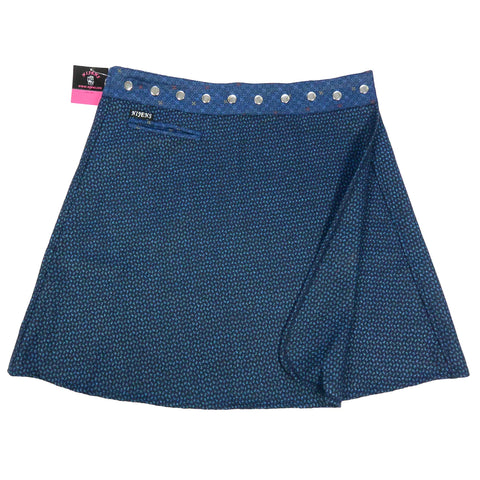 Nijens Winter Skirt XL wrap skirt made of wool blue