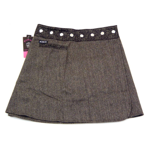 NijensTrufflin Tweed Short-05 braun Wickelrock