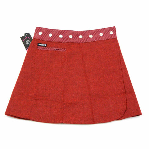 Mini Wickelrock Nijens Trufflin Tweed Short Rot