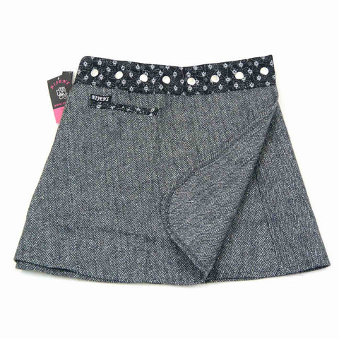 NijensTrufflin Tweed Short-09 grau Wickelrock