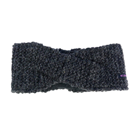 Nijens headband virgin wool charcoal