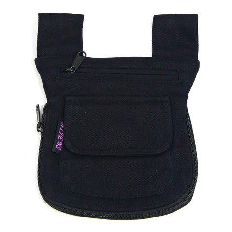 Small bum bag black Uni Nijens reversible bag photo