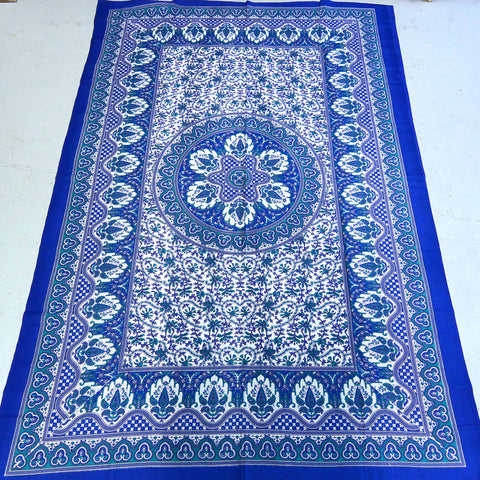 Cotton Single Bed Cover blue Nijens Foto