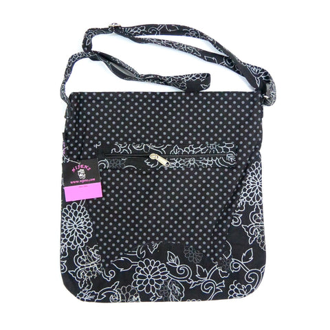NijensChandi Bag black mit Blumenmuster-08