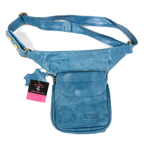 Leather Hipbag Fanny Pack Dog Waist Bag Pet Travel Hunde Gassigehen Trainingstasche Leder Marineblau Foto