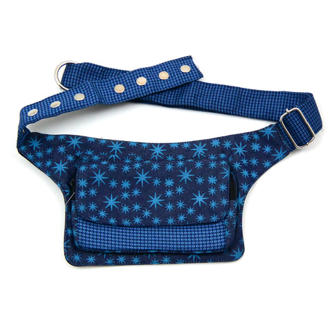 Bum bag star pattern blue Nijens Waist Bag