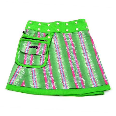 Children's skirt NijensMiniMalk Corduroy-102 Lime