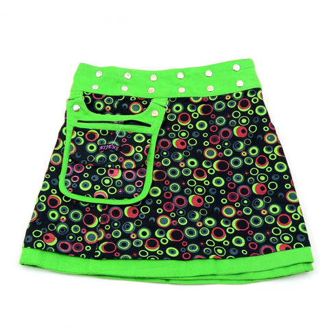 Nijens reversible skirt kids skirt mini corduroy green