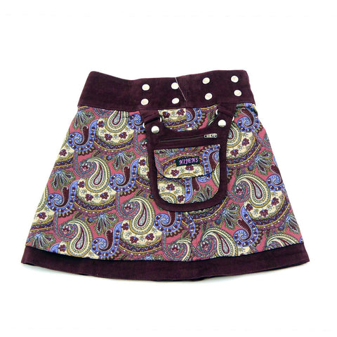 Children's skirt NijensMiniMalk Cord-2 burgundy