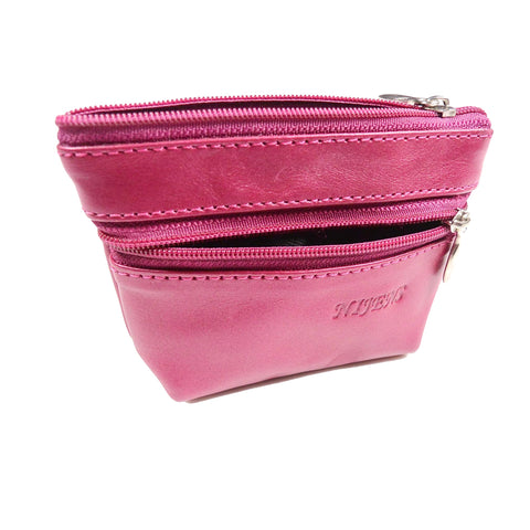 Nijens leather wallet magenta L-2