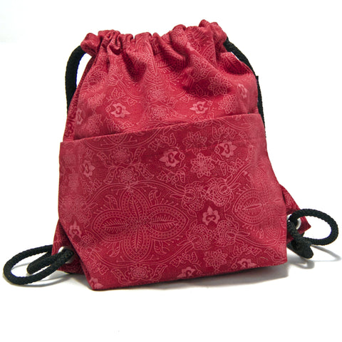 Backpack NijensPeethoo Bag - Red Pattern 13