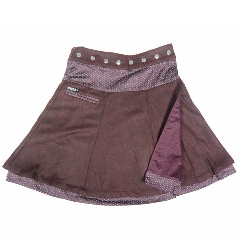 Wrap skirt Tweed-Cotton Winter Skirt Bordeaux Nijens