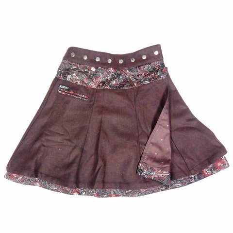 Nijens reversible skirt made of wool / cotton Bordo