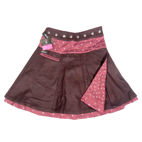 Reversible skirt Nijens Tweed Burgundy