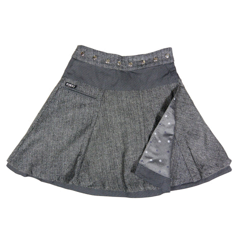 Reversible skirt NijensSoufflé Tweed Long dark gray-64