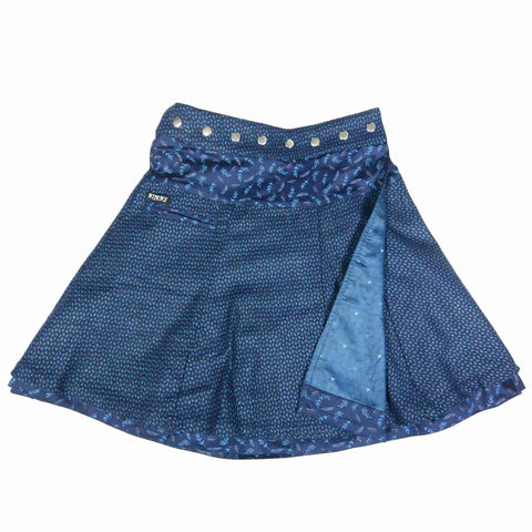 Nijens reversible skirt NJ-Soufflé Tweed Long Indigo