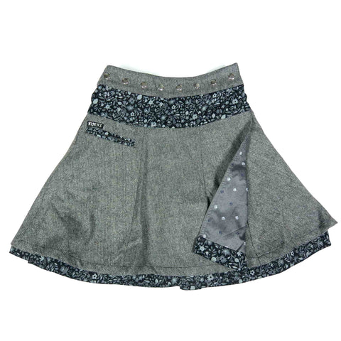Reversible skirt NijensSoufflé Tweed Long Gray-73