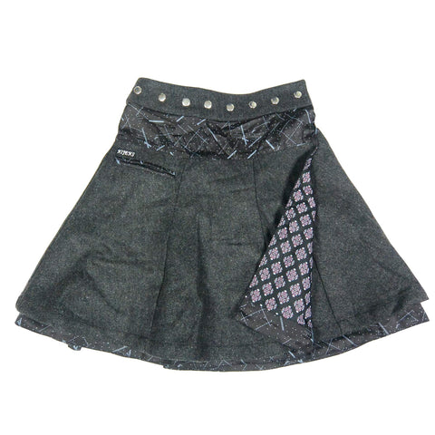 Skirt NJ-Soufflé Tweed Long 76 Black