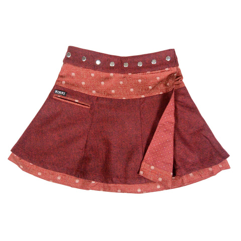 Wide flared skirt reversible skirt with a nice curve keeps you warm on cold days Photo