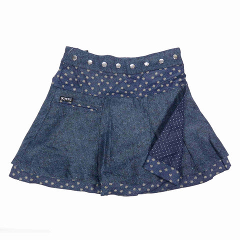 Reversible skirt NijensSoufflé Tweed Short Indigo-56