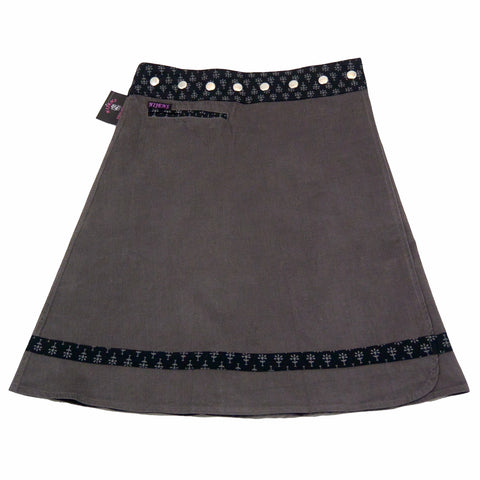 Charcoal wrap skirt Nijens