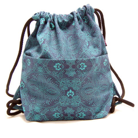 Backpack NijensPeethoo Bag - Turquoise 01 new 4