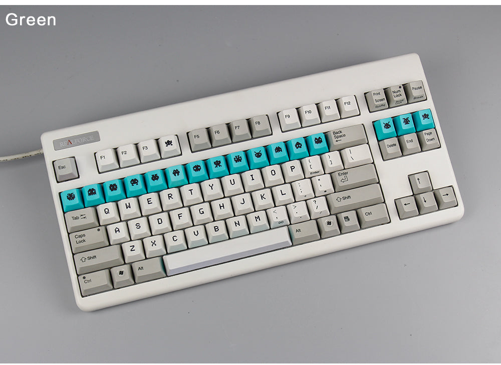 In stock]Space Invaders Dye-sub Electrostatic Capacitive Keycaps