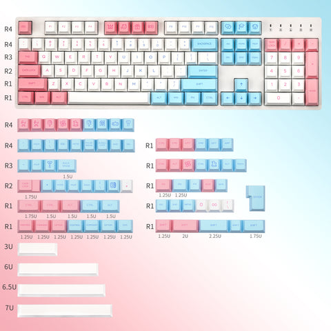Childhood Dye-sub Cherry profile keycaps set 180 keys