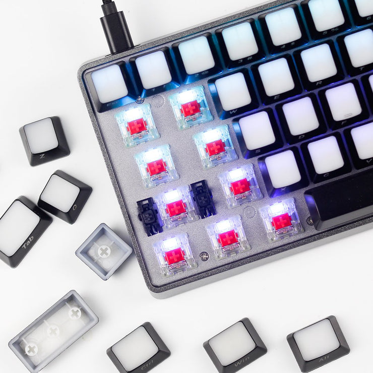 GK64 layout ABS backlit keycaps