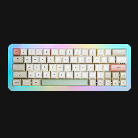 FULLY ASSEMBLED Five Degree ACRYLIC MECHANICAL KEYBOARD WITH KEYCAPS