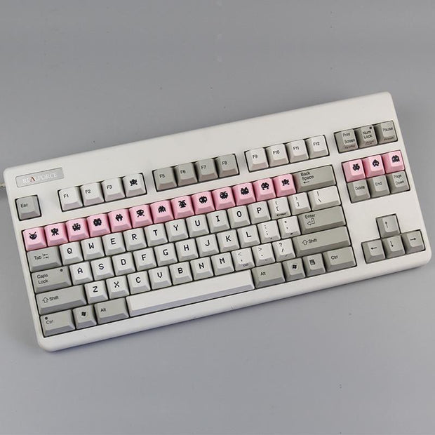 [In stock]Space Invaders Dye-sub Electrostatic Capacitive Keycaps